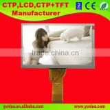 7.0 inch 800(RGB)*480 flexible transparent lcd display with backlight