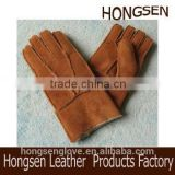 HS143 NEW! Brown Men's 100% REAL SHEEPSKIN SHEARLING NICE & WARM REAL LEATHER Glove& mitts
