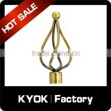 KYOK 19mm dimond curtain rod finial,painting/plated iron rod curtain finials,drapery hardware accessories                                                                                                         Supplier's Choice