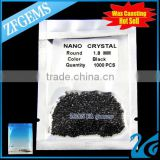 Wuzhou round brilliant cut 1.8mm nano crystal black diamond carat