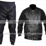 Black leather Track Suits , leather Suits , Track Suits In Leather , Supplier Of Leather Track Suit