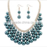 New Hot Style Multilayer Pearl Necklaces Fashion Statement Necklaces For Women,payal jewelry set
