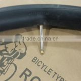 China butyl bicycle tube 12'' 14'' 16'' 18'' 20'' 24'' 26'' 28x1.9/2.125 FV bike tube