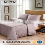 veken home textile 600 thread count full size plain dyed wholesale german style bedding sets 100% cotton