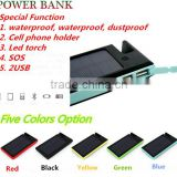 Convenient phone holder solar charger with Led light and dual usb ports