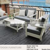 Star Hotel Luxury Garden WPC Sofa Set Patio Lounger Outdoor Plastic Wood Furniture