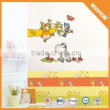 01-00449 Goods from china removable home decor vinyl wall sticker monkey birds and elephant home interior wall decal