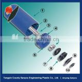 Light weight, easy installation and replacement uhmwpe belt conveyor roller/reduce the labor intensity and maintenance