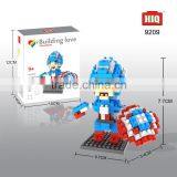 the hero figure of plastic diy assembled building block set toys for kids