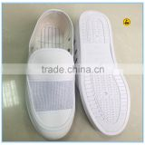 GD-0006 high quality comfortable microfiber leather upper PU sole cleanroom work shoes manufacturer(OEM)