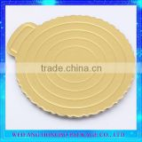Festival Party Decorating Gold Paper Plate Tray For Cake Base