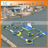 Inflatable water floating island for commercial