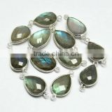 Charming !! Blue Fire Labradorite 925 Sterling Silver Connectors, Silver Jewelry, Handmade Silver Jewelry