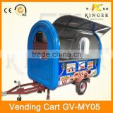 high quality China mobile fryed chicken food truck with fridge, ice cream making machine, and sugarcane juicer machine