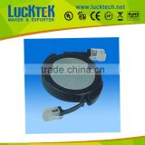 RJ11 / RJ12 telephone cable travel round box with 6P2C / 6P4C / 6P6C,push up travel cable box