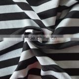Yarn dyed 45% polyester 45% nylon two colors striped fabric, 100D polyester 100D nylon 40D spandex striped fabric