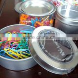 Tin box within paper clips/Stationery supplies Colorful paper clip/Tin box within paper clips small quantity order