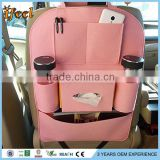 Car Back Seat Organizer/Auto Seat Multi-Pocket Travel Storage Bag/Insulated Car Seat Back Drinks Holder