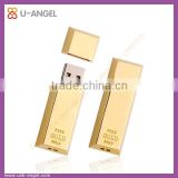 Gold bar usb pen drive 8gb metal usb memory disk cool design metal usb disk