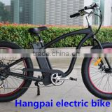 2014 new designed electric fat tire snow bike, beach cruiser bicycle with 500w brushless motor (HP-E015)