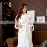 2015 Hotel Bath Robe With Embroidery Elegant Delicates Sleepwear Velour Fabric Robes