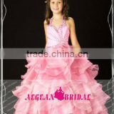 StyleMW0146 New Arrival Organza Crystal Ball Gown Girl Pageant Dresses