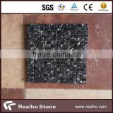 white and black marble flower mosaic floor tile pictures pattern design
