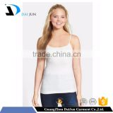 Daijun OEM high quality in plain custom white cotton spaghetti strap women workout tank tops