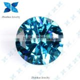 Round machine cut raw material color change cubic zirconia for jewelry