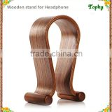 wooden countertop earphone display stand, earwear display stand, Headphone wooden holder for cell phone ipad watch and table pc