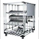 Shopping cart for supermarket cargo trolley