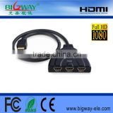 3Port HDMI Splitter Switcher 3x1 Auto Switch 3-In 1-Out With 50 CM Pigtail Cable