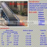 2013 New Direct Factory Inclined gelatin belt conveyor/foundry sand vibrating screening equipment