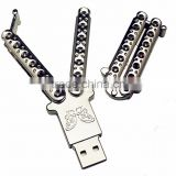 Newest products , Metal butterfly knife USB 2.0/3.0 16gb,32gb,64,gb usb flash drive for a gift