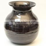 High quality best selling spun black lacquer bamboo vase from Vietnam