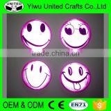 Bright in duck smile face printed tin button police reflective badge