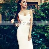 Restock Top Quality 2 Pieces Set Knee Length HL Rayon Sexy Women 2015 Bandage Dress 10 Color Wholesale