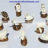 Mini figurines Tagua Nut Statues Animals Design Handmade Carving Decoration Great Novelty Gifts Ornament Ecuador