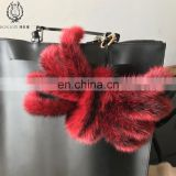 Funny Design Spider Bag Pendant Fluffy Mink Fur Keychain Super Cute Spider Shape Keyring