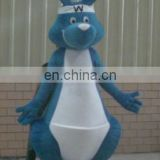 Blue and white rabbit mascot costume suit