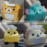 Custom Lovely plush tissue box cover plush car tissue box