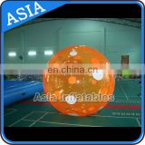 Pure Orange Color Inflatable Water Ball For Water Park Sports