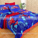 High Qulaity Cotton 3D Printed Spiderman Bed Sheet With 2 Pillow Covers