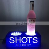 Wine Brand Promoting Illuminated Bottle Glorifier/back bar led bottle display