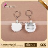 wholesale bottle opener/ plastic opener key chain/ promotional bottle cap shape keyring for beer-opening