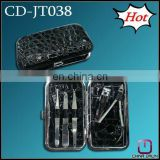 5pcs mini hot promotional cosmetic pu leather manicure set CD-JT038