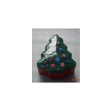 Christmas tree tin box