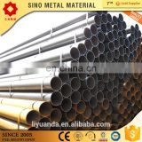 ASTM A53 schedule 40 Black ERW round carbon steel tube iron pipe price