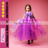 Court style kids belly dance costumes in pure purple