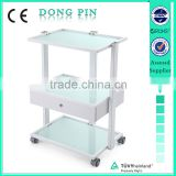 beauty salon furniture glass shelf trolley for sale
